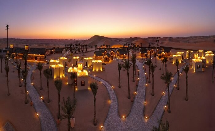 beautiful desert at night