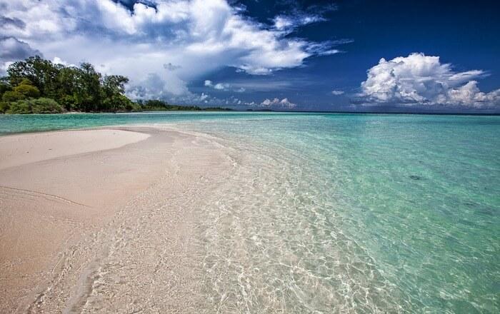 Clean blue sea water