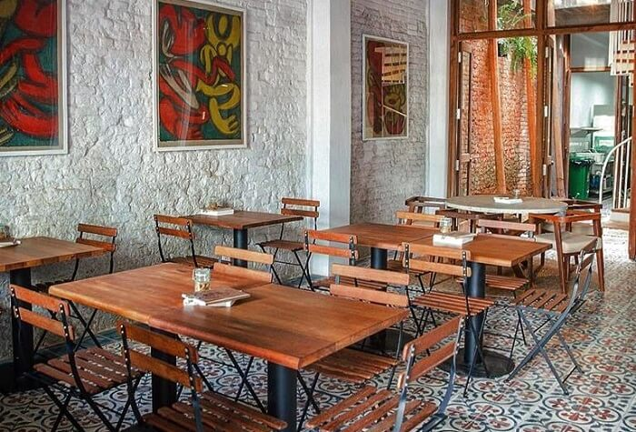 table and chair of restaurants