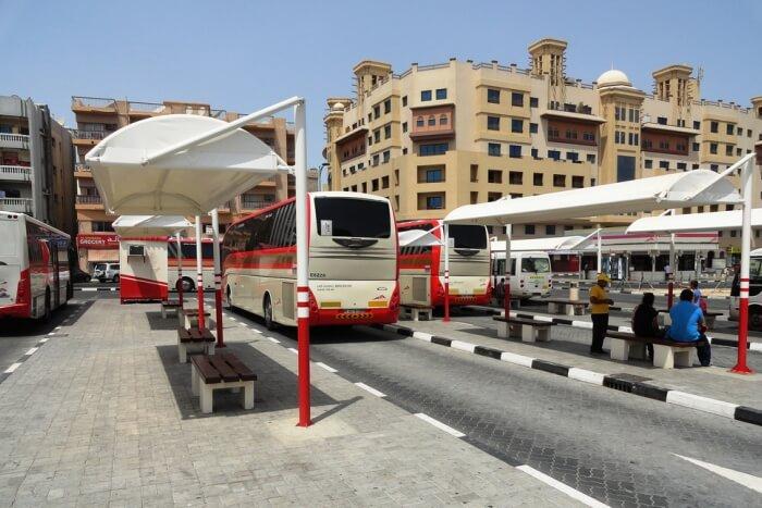 Bus stop bur dubai