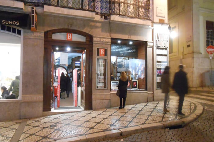 shopping in Lisbon, Portugal.