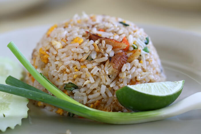 taste the lemongrass flavored rice