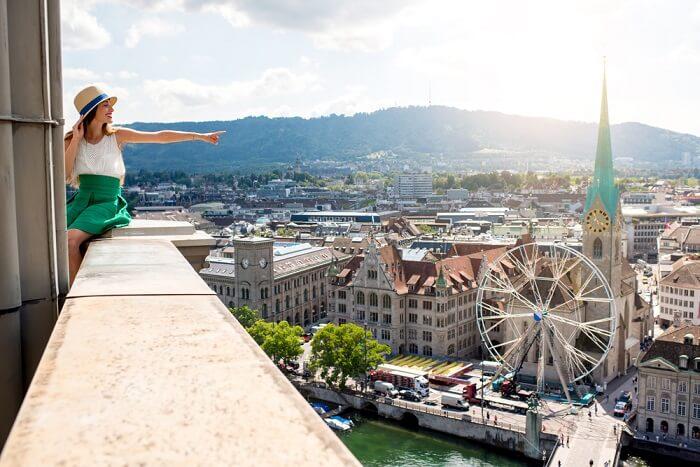Amazing view of Zurich