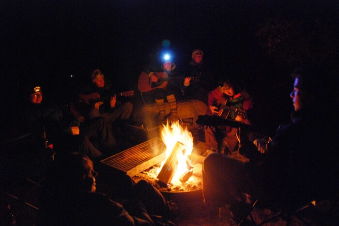 drink near the fire