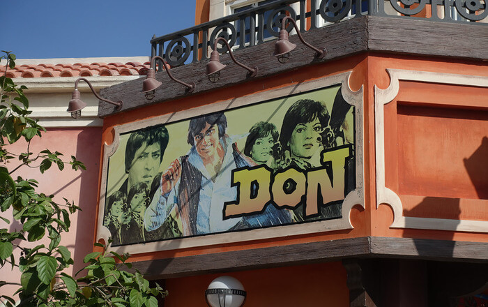 Don Poster on wall of Theatre