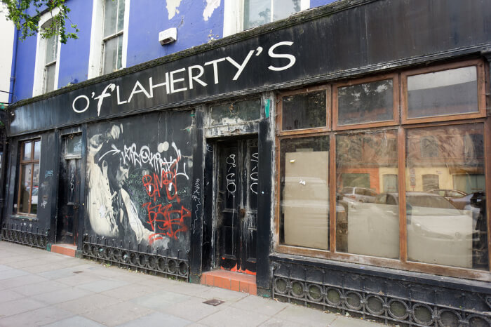 Enjoy a meal at Flaherty's Irish Pub