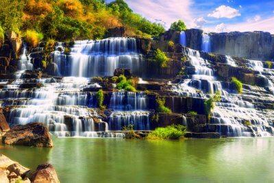 Nature beauty Waterfall