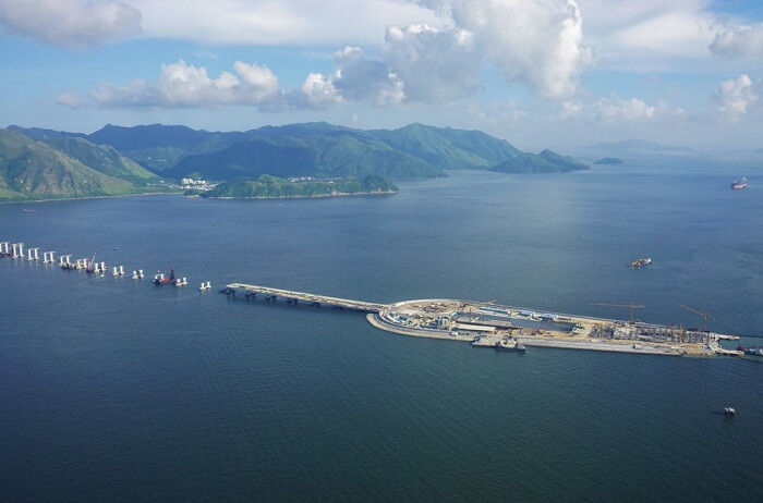 Construction of Hong Kong Macau Bridge