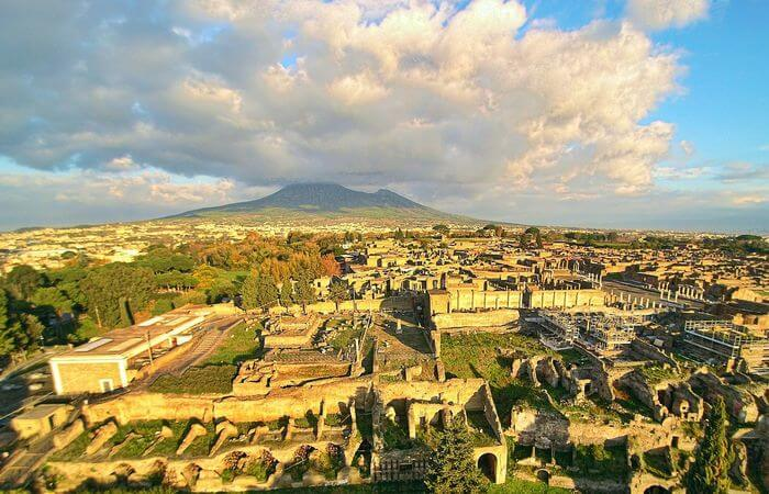 Pompeii Ruins view