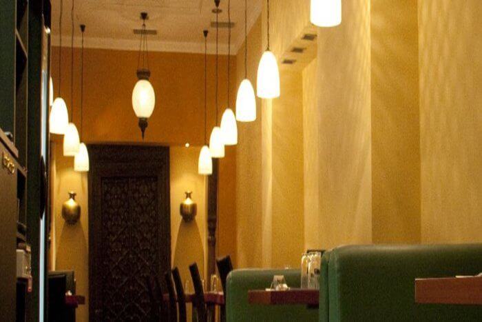 Awesome lighting in restaurant
