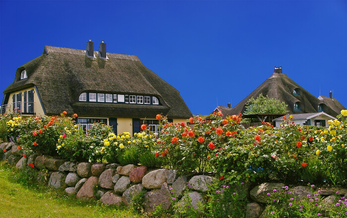 Island cottages in the Baltic sea