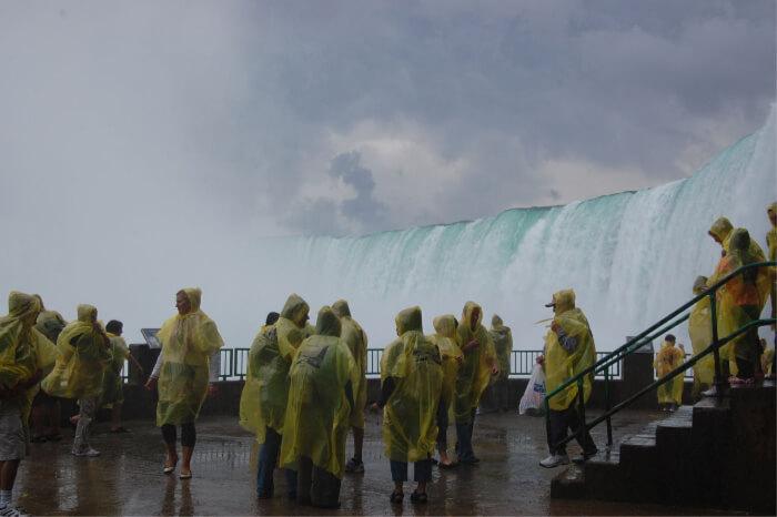 roaring white waters of the Niagara Falls