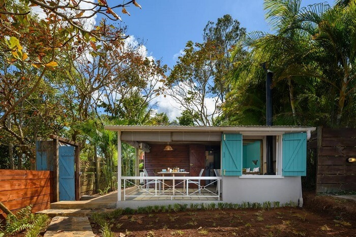 Cottages and Lodges on a tropical farm