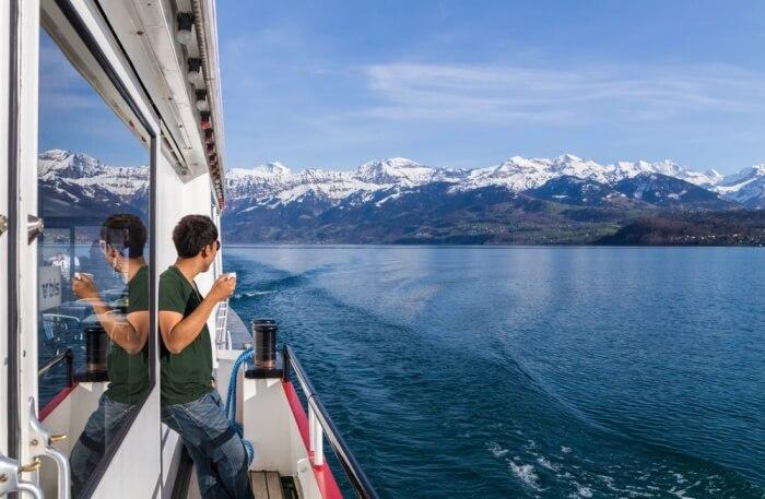 Lake Thun Cruise View