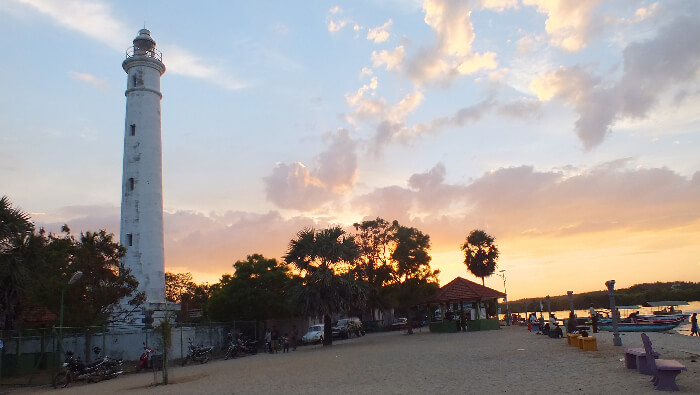 Famous lighthouse of Batticaloa