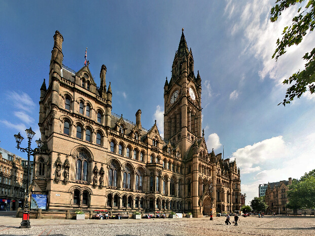 its a municipal building of Manchester