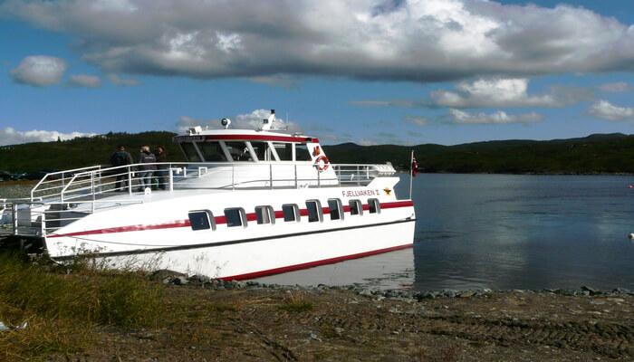 ship on the lake