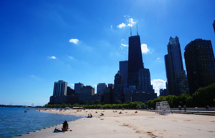 Street Beach in Chicago