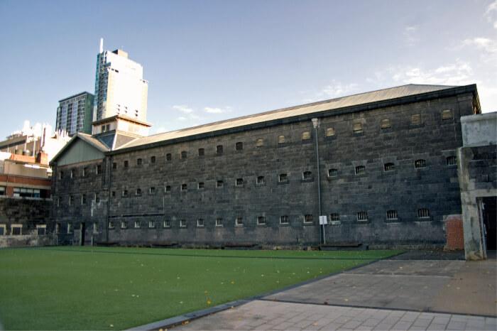 Inside a colonial-era prison