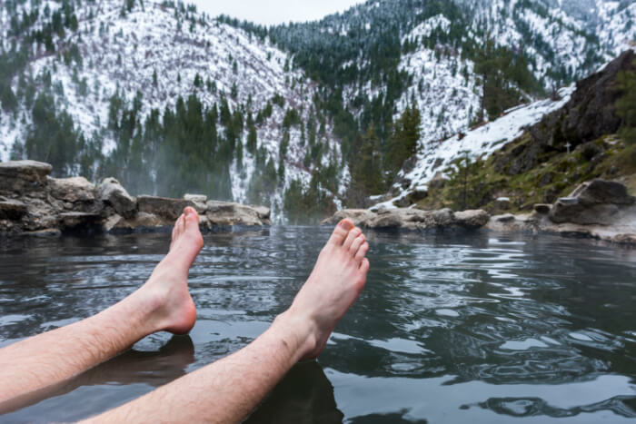 Relax in Hot pools of the Glacier