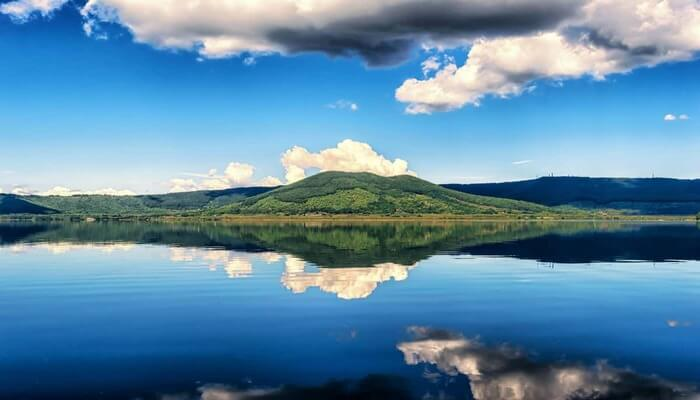 Reflection of mountain and lake