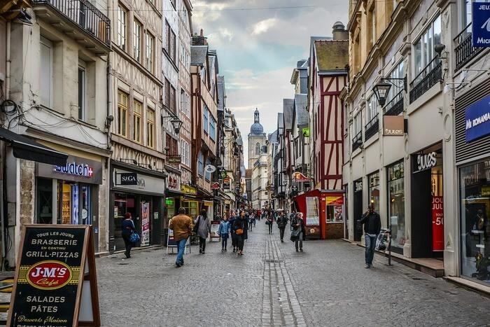vement Street Tourism City Rouen France Town
