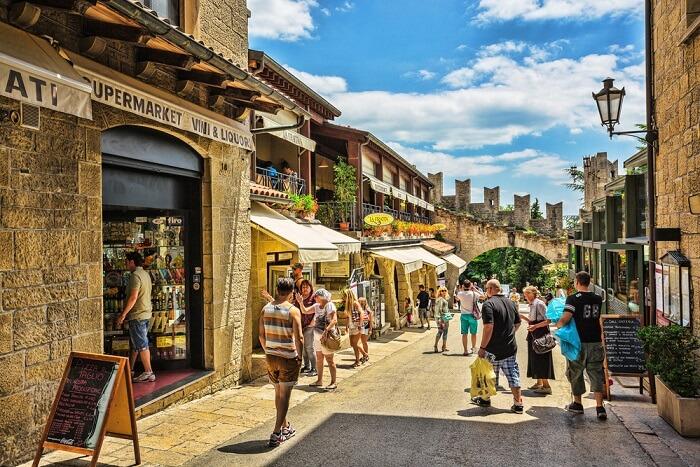 San Marino street italy