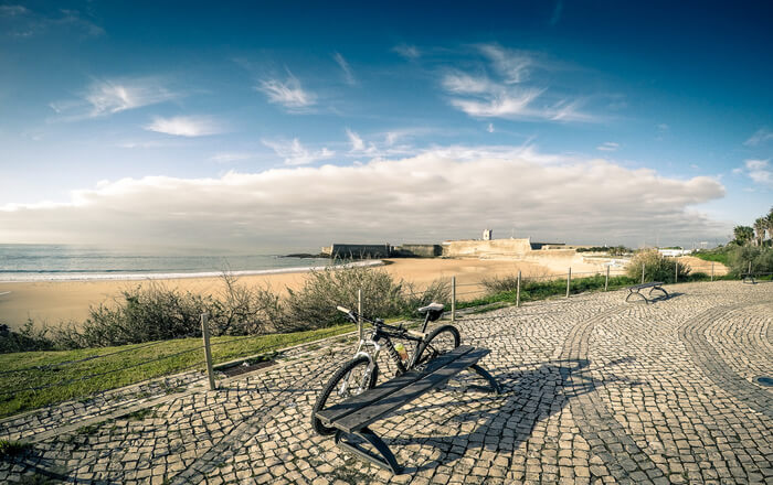 Cycle on beach