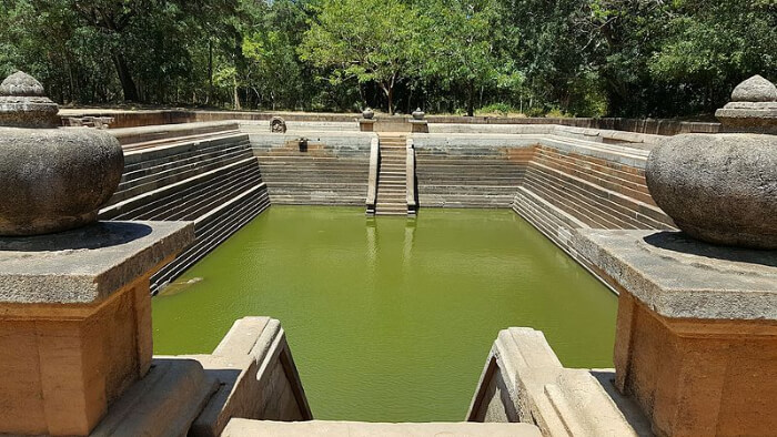 The ancient Swimming Pool in Polonnaruwa