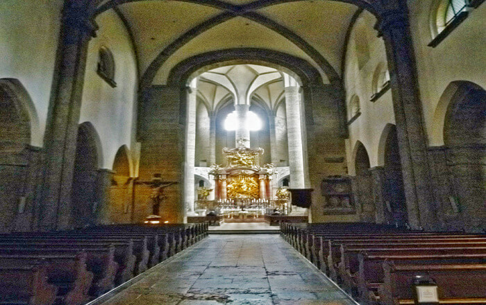 inside view of church
