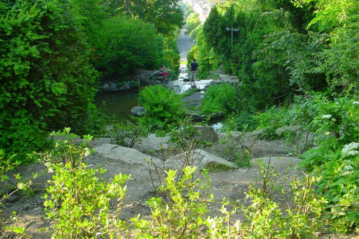 Viktoriapark and the waterfall