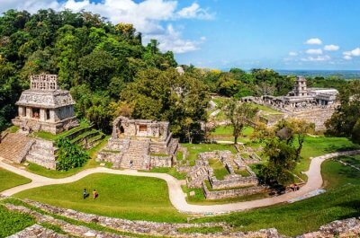 view of impeccable ruins in mexico