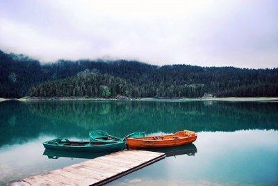Beautiful lakes of nature
