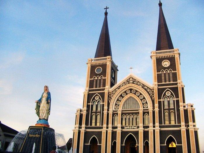 exterior of church in cambodia