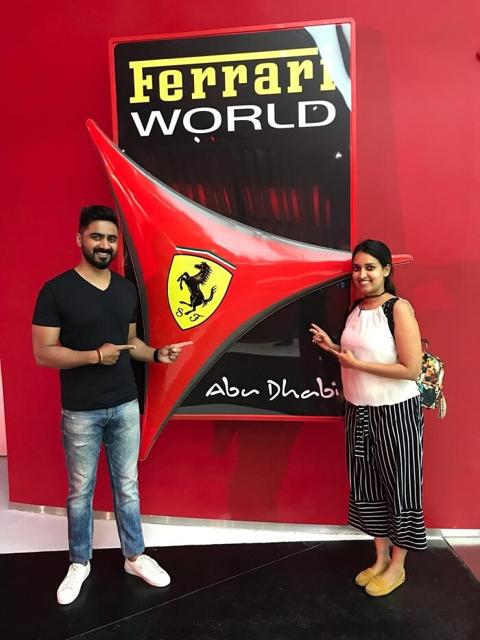 Ferrari World Tour with my lovely wife