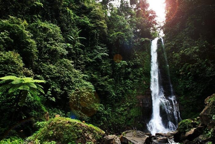 famous waterfall in Bali
