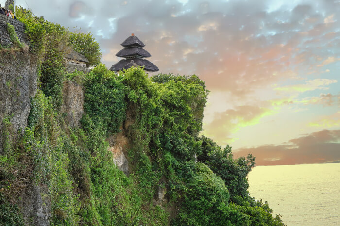 Uluwatu Temple on the cliff in Bali