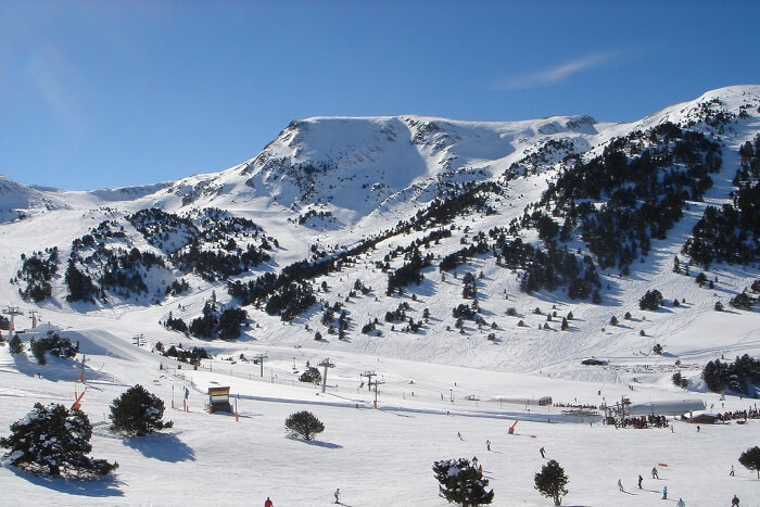 snow covered mountains of Andorra