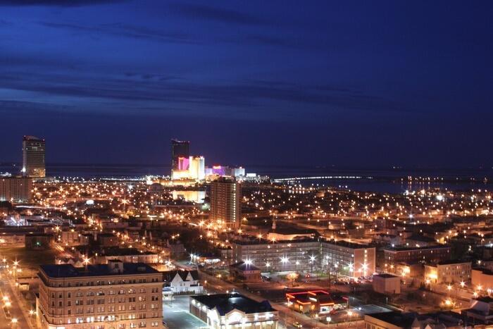Atlantic City view at night