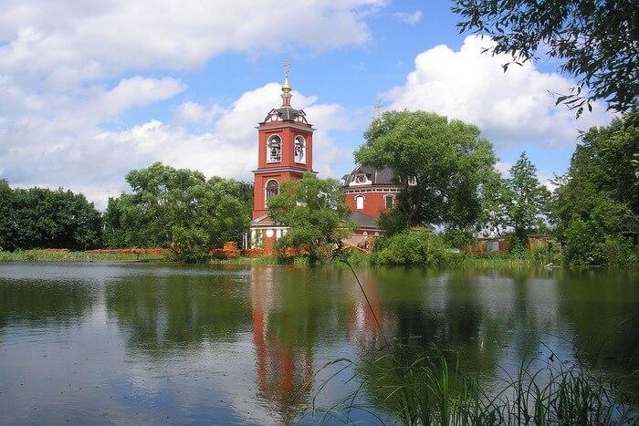 Russia Clouds Lake Church Landscape