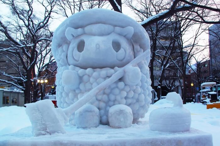 Check out the snow art festival at Sapporo