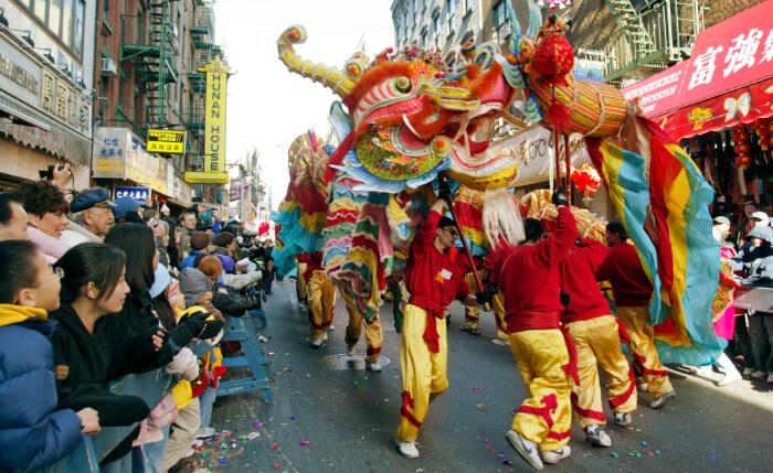 Chinese New Year Celebration Firecracker Ceremony