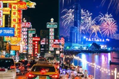 Night scene in Bangkok & Pattaya