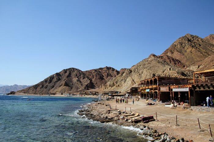 Egypt Red Sea Blue Hole Beach Sea Sky Dahab