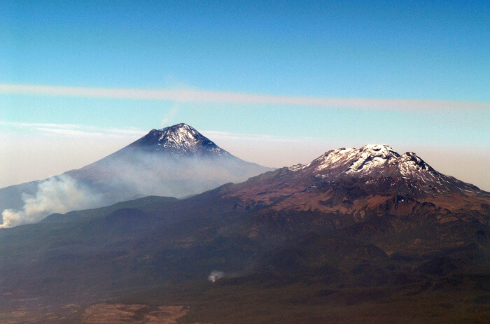 Dormant Iztaccihuatl Volcano
