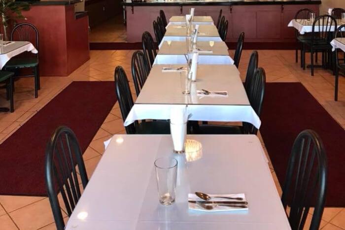 Indian restaurant view