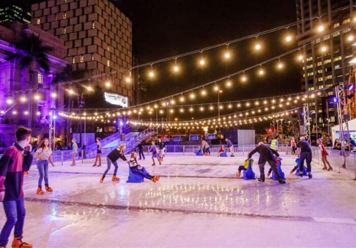 Enjoy ice skating
