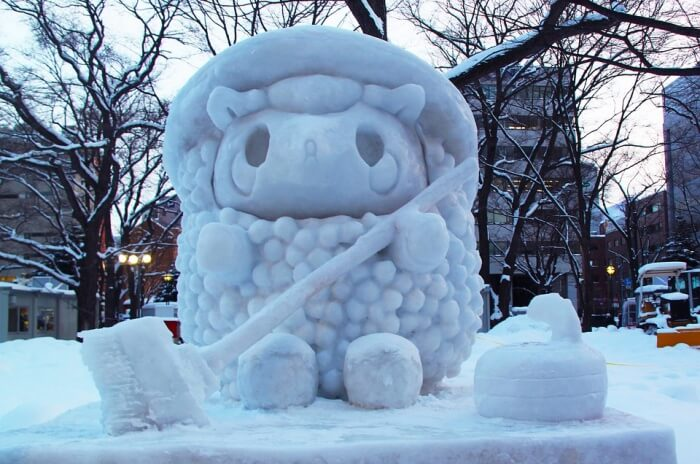 Enjoy viewing the Snow Sculptures