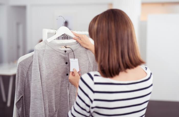 Clothes in hanger