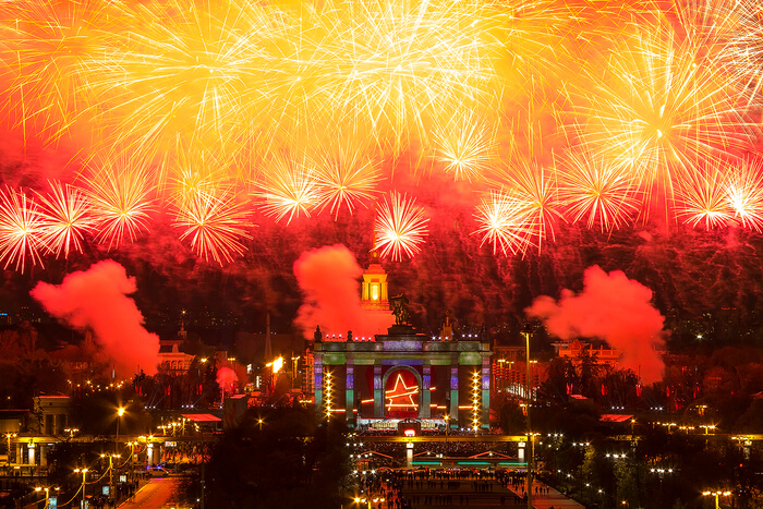 Fireworks Show in the sky